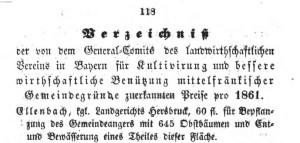 Ellenbach Gemeindeanger Obstpflanzung 1861